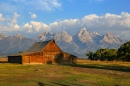 Mormon Row Barn and the Grand Teton