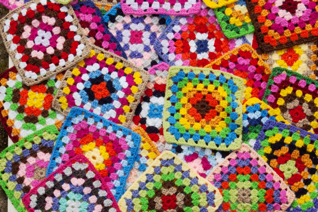 Links To More Than 10 000 Crochet Patterns And Pieces: Granny Squares Jigsaw Puzzle In Puzzle Of The Day Puzzles