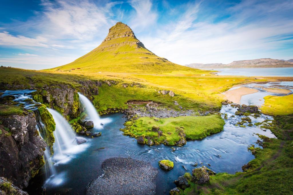 Kirkjufell Mountain Iceland Jigsaw Puzzle In Waterfalls