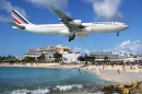 Air France Airbus A340 in Saint Martin