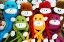 Colorful Homemade Monkeys