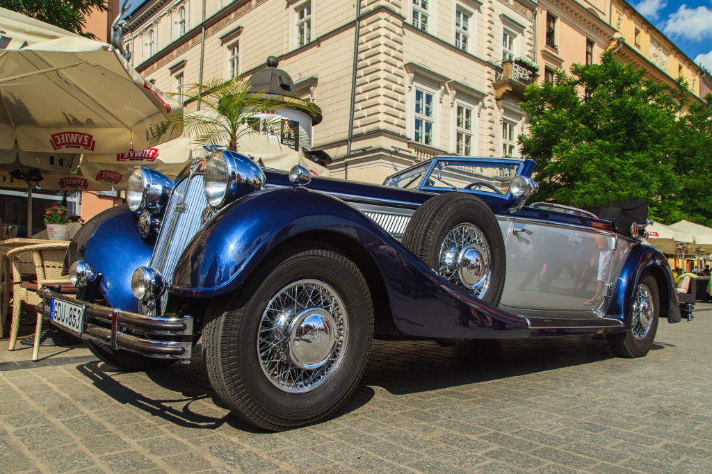 Oldtimer Festival In Cracow Poland Jigsaw Puzzle In Cars