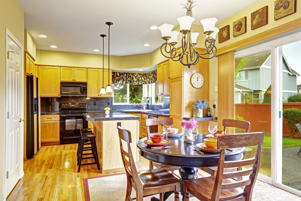 Dining area in the kitchen room jigsaw puzzle in food - Kitchen and dining area design crossword ...