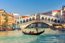 Gondola near Rialto Bridge in Venice