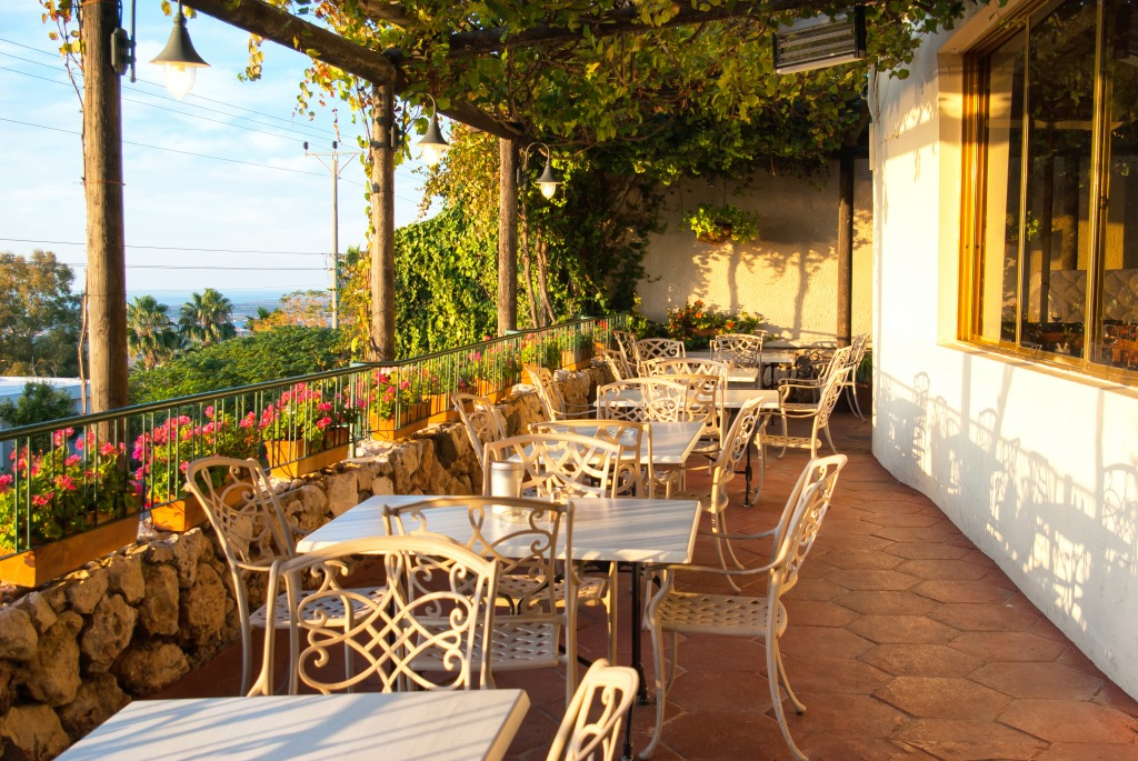 Mediterranean restaurant balcony jigsaw puzzle in food for The balcony cafe