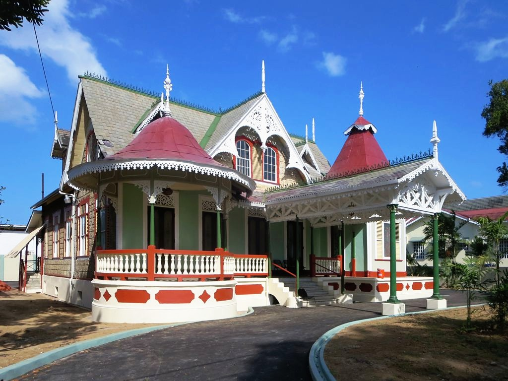 Boissiere house port of spain trinidad jigsaw puzzle in for Trinidad houses