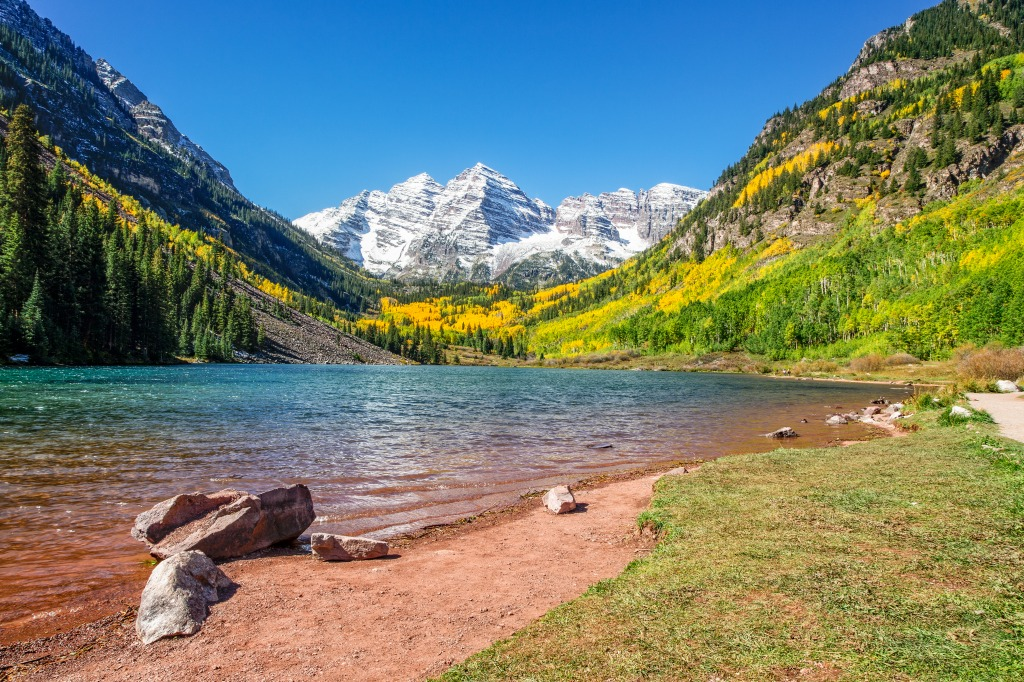 Maroon Bells Aspen Colorado Jigsaw Puzzle In Great