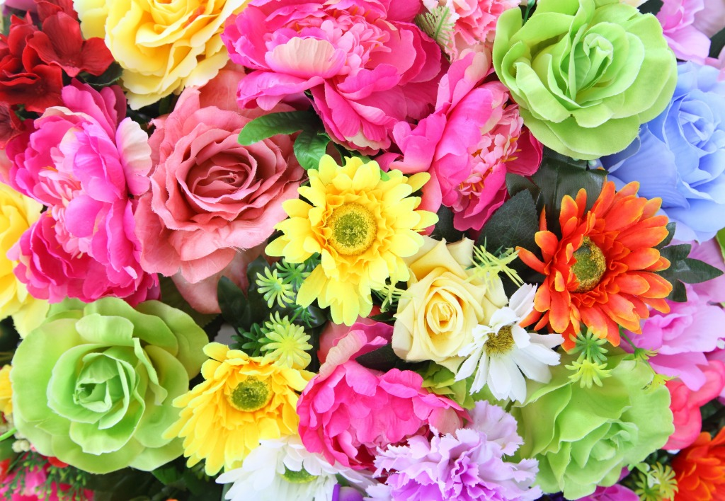Bright Colorful Flowers Jigsaw Puzzle In Puzzle Of The Day Puzzles