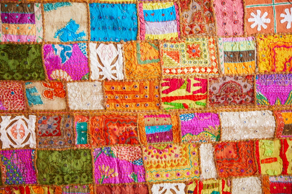 Colorful Crazy Quilt Jigsaw Puzzle In Puzzle Of The Day