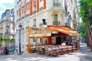 Street Cafe on Montmartre, Paris