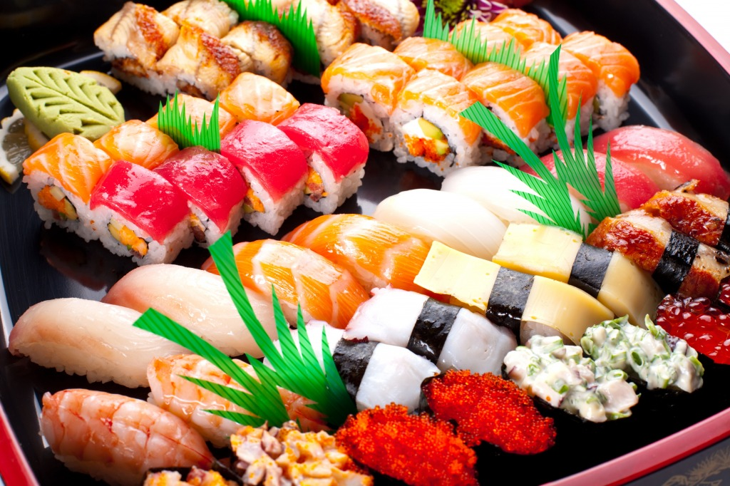 Sushi and maki jigsaw puzzle in food bakery puzzles on for Sashimi fish crossword