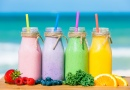 Fruit Smoothies on the Beach