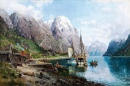 Harbor in the Sognefjord