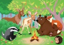 Animals Camping in the Woods
