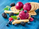 Red Ice Cream with Berries