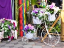 White Bicycles With Flowers