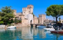 Castle Sirmione on Lake Garda, Italy