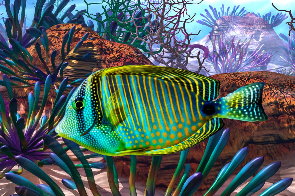 Big fish jigsaw puzzle in under the sea puzzles on for Big fish in the ocean
