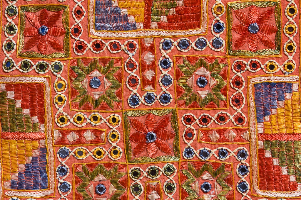 Indian Patchwork Carpet In Rajasthan Jigsaw Puzzle In