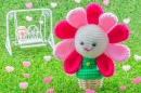 Happy Blooming Flower Crochet Doll