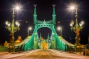 Liberty Bridge in Budapest at Night