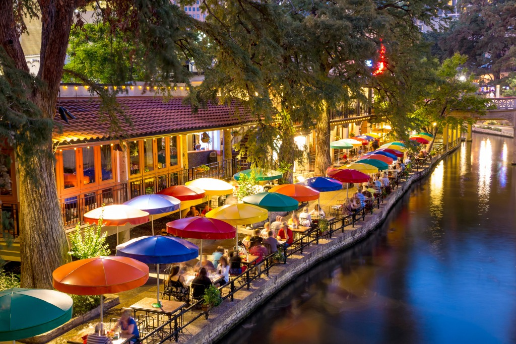 River Walk In San Antonio Jigsaw Puzzle In Great Sightings