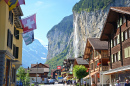 Lauterbrunnen and the Staubbach Falls