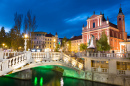 Triple Bridge in Ljubljana, Slovenia