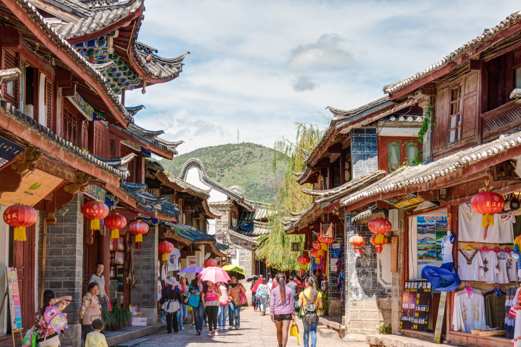 Old Town Of Lijiang China Jigsaw Puzzle In Street View