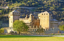 Fenis Castle in Aosta Valley, Italy