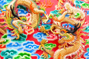 Chinese Dragon on a Temple Wall