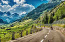 Bikers Touring Swiss Alps