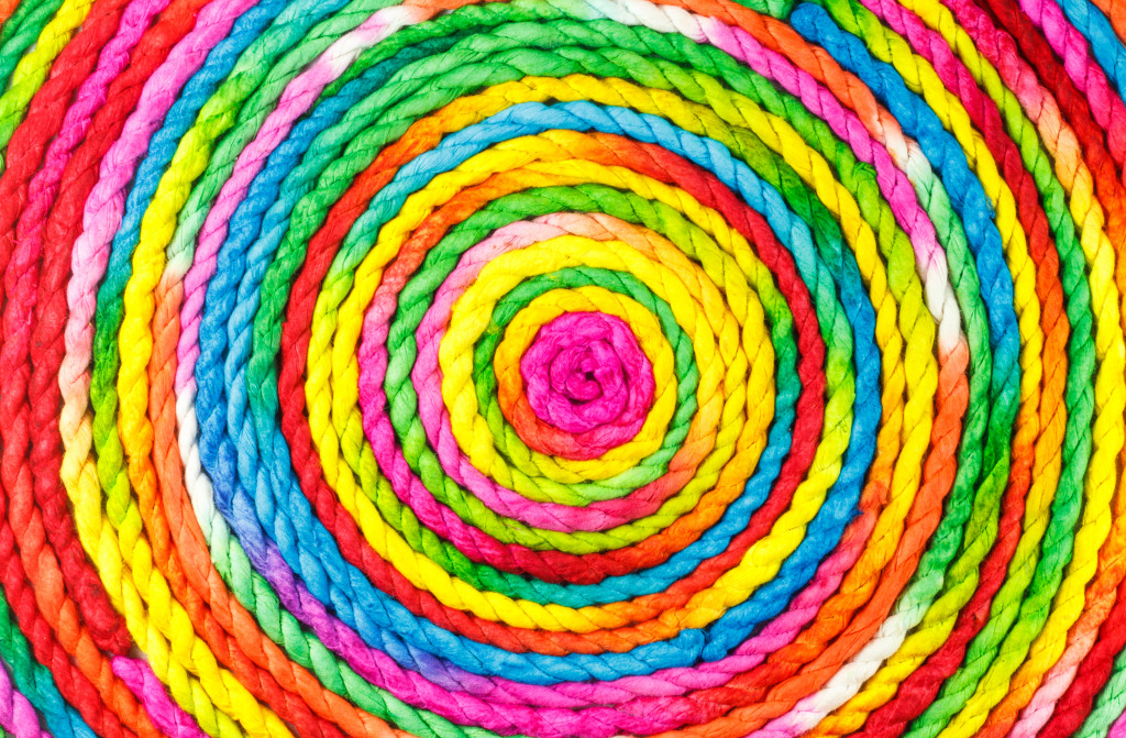 Colorful Rope Circle Jigsaw Puzzle In Handmade Puzzles On