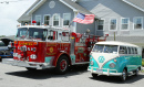 Fire Truck and 1966 Volkswagen Bus Vanagon