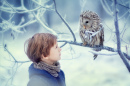 A Boy and an Owl