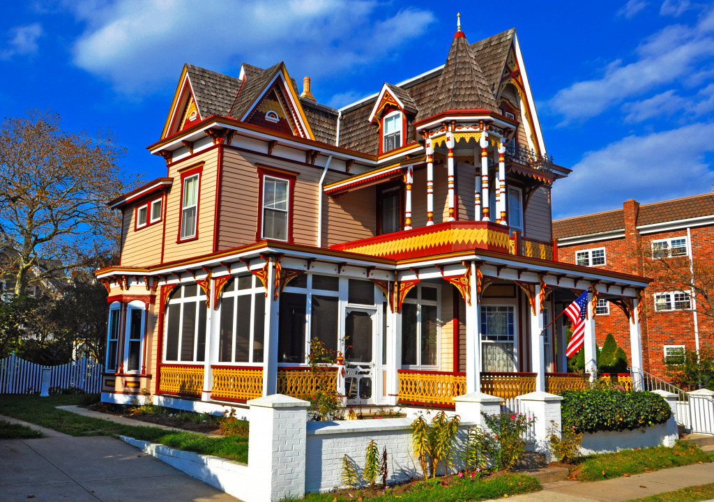 Viktorianisches haus in cape may new jersey jigsaw puzzle for New jersey house music