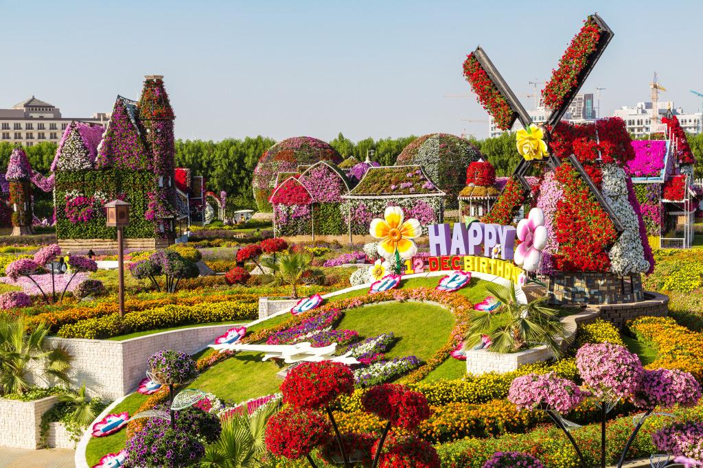 actions - Dubai Miracle Garden