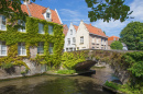 Small Canal in Bruges, Belgium