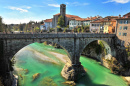 Devil Bridge in Cividale, Italy