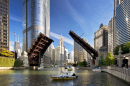Chicago River Bridges Raising
