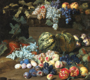 Fruits on a Plinth