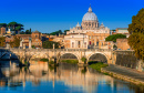 Sant Angelo Bridge and Vatican Dome