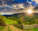 Hillside Sunset Landscape