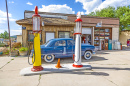 Retro Filling Station on Route 66