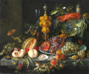 Still Life of Fruits, Nuts and Oysters