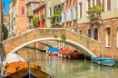 Lovely Bridge on the Venetian Canal