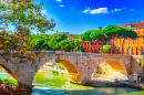Cestio Bridge in Rome, Italy