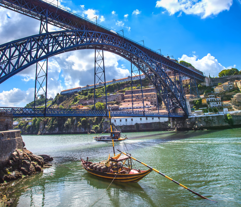Porto: Dom Luiz Iron Bridge, Porto, Portugal Jigsaw Puzzle In