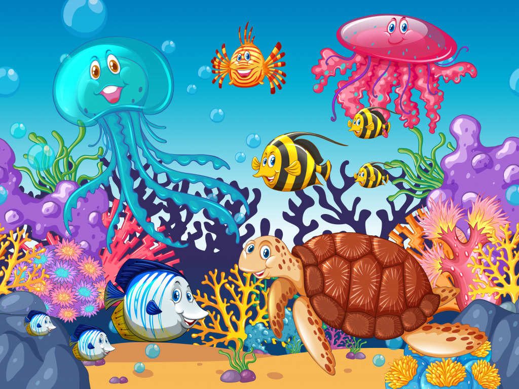 Sea Animals Jigsaw Puzzle In Under The Sea Puzzles On