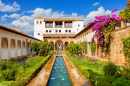 Generalife Courtyard in Granada, Spain